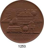 MEDAILLEN AUS PORZELLAN,Staatliche Porzellan-Manufaktur MEISSEN Hainichen 1978 braun (145 mm).  Ehrenplakette der Stadt.