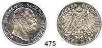 R E I C H S M Ü N Z E N,Sachsen - Altenburg Ernst 1853 - 1908 2 Mark 1901.  Jaeger 142.  Zum 75. Geburtstag.