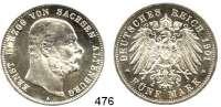 R E I C H S M Ü N Z E N,Sachsen - Altenburg Ernst 1853 - 1908 5 Mark 1901.  Jaeger 143.  Zum 75. Geburtstag.