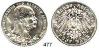 R E I C H S M Ü N Z E N,Sachsen - Altenburg Ernst 1853 - 1908 5 Mark 1903.  Jaeger 144.  Regierungsjubiläum.