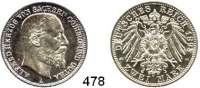 R E I C H S M Ü N Z E N,Sachsen - Coburg und Gotha Alfred 1893 - 1900 2 Mark 1895.  Jaeger 145.