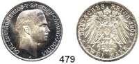 R E I C H S M Ü N Z E N,Sachsen - Coburg und Gotha Carl Eduard 1900 - 1918 2 Mark 1905.  Jaeger 147.