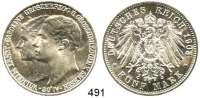 R E I C H S M Ü N Z E N,Sachsen - Weimar - Eisenach Wilhelm Ernst 1901 - 1918 5 Mark 1903.  Jaeger 159.  Hochzeit.