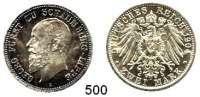R E I C H S M Ü N Z E N,Schaumburg - Lippe Adolf Georg 1860 - 1893 2 Mark 1904.  Jaeger 164.