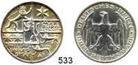 R E I C H S M Ü N Z E N,Weimarer Republik  3 Reichsmark 1927 A.  Jaeger 330.  Marburg.
