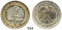 R E I C H S M Ü N Z E N,Weimarer Republik  5 Reichsmark 1929 A.  Jaeger 331.  Eichbaum.