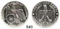 R E I C H S M Ü N Z E N,Weimarer Republik  3 Reichsmark 1929 A.  Jaeger 337.  Waldeck.