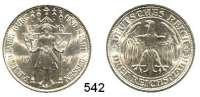 R E I C H S M Ü N Z E N,Weimarer Republik  3 Reichsmark 1929 E.  Jaeger 338.  Meißen.