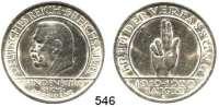 R E I C H S M Ü N Z E N,Weimarer Republik  5 Reichsmark 1929 E.  Jaeger 341.  Schwurhand.