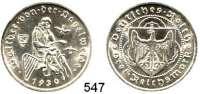 R E I C H S M Ü N Z E N,Weimarer Republik  3 Reichsmark 1930 E.  Jaeger 344.  Vogelweide.