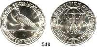 R E I C H S M Ü N Z E N,Weimarer Republik  5 Reichsmark 1930 A.  Jaeger 346.  Rheinlandräumung.