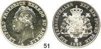 Deutsche Münzen und Medaillen,Anhalt - Dessau Leopold Friedrich 1817 - 1871 Vereinstaler 1858 A.  Kahnt 9.  AKS 30.  Jg. 76.  Thun 9.  Dav. 509.