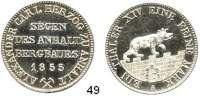 Deutsche Münzen und Medaillen,Anhalt - Bernburg Alexander Karl 1834 - 1863 Ausbeutetaler 1855 A.  Kahnt 4.  AKS 16.  Jg. 66.  Thun 3.  Dav. 504.