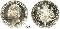 Deutsche Münzen und Medaillen,Anhalt - Dessau Leopold Friedrich 1817 - 1871 Vereinstaler 1866 A.  Kahnt 10.  AKS 30.  Jg. 79.  Thun 10.  Dav. 509.