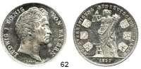 Deutsche Münzen und Medaillen,Bayern Ludwig I. 1825 - 1848 Geschichtsdoppeltaler 1837. Münzvereinigung Süddeutscher Staaten.  Kahnt 102 f.  AKS 98.  Jg. 66.  Thun 75.  Dav. 581.