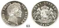 Deutsche Münzen und Medaillen,Bayern Ludwig I. 1825 - 1848 Doppelgulden 1846.  Kahnt 73.  AKS 77.  Jg. 63.  Thun 89.  Dav. 594.