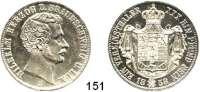 Deutsche Münzen und Medaillen,Braunschweig - Wolfenbüttel Wilhelm 1831 - 1884 Vereinstaler 1858 B.  Kahnt 155.   AKS 81.  Jg. 257. Thun 123.  Dav. 636.