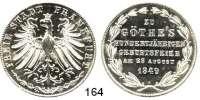 Deutsche Münzen und Medaillen,Frankfurt am Main Freie Stadt 1814 - 1866 Doppelgulden 1849. Goethes 100. Geburtstag.  Kahnt 178.  AKS 41.  Jg. 48.  Thun 137.  Dav. 646.