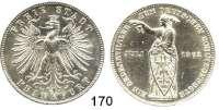 Deutsche Münzen und Medaillen,Frankfurt am Main Freie Stadt 1814 - 1866 Vereinstaler 1862. Deutsches Schützenfest.  Kahnt 171.  AKS 44.  Jg. 51.  Thun 146.  Dav. 653.