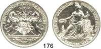 Deutsche Münzen und Medaillen,Hannover, Stadt  Feinsilbermedaille in Talergröße 1872.  Deutsches Bundesschiessen.  Kahnt 246.  Jg. 100 IV.  Thun 179.