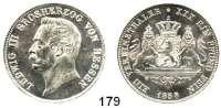 Deutsche Münzen und Medaillen,Hessen - Darmstadt Ludwig III. 1848 - 1877 Vereinstaler 1858.  Kahnt 266.  AKS 120.  Jg. 59.  Thun 200.  Dav. 707.