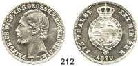 Deutsche Münzen und Medaillen,Mecklenburg - Strelitz Friedrich Wilhelm 1860 - 1904 Vereinstaler 1870 A.  Kahnt 295.  AKS 71.  Jg. 120.  Thun 217.  Dav. 732.
