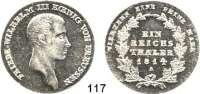 Deutsche Münzen und Medaillen,Preußen, Königreich Friedrich Wilhelm III. 1797 - 1840 Taler 1814 A.  Kahnt 362.  AKS 11.  Jg. 33.  Thun 244.  Dav. 756.