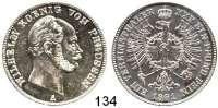Deutsche Münzen und Medaillen,Preußen, Königreich Wilhelm I. 1861 - 1888 Vereinstaler 1861 A.  Kahnt 386.  AKS 97.  Jg. 92.  Thun 266.  Dav.780.