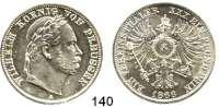 Deutsche Münzen und Medaillen,Preußen, Königreich Wilhelm I. 1861 - 1888 Siegestaler 1866 A.  Kahnt 389.  AKS 117.  Jg. 98.  Thun 271.  Dav. 784.