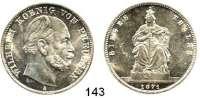Deutsche Münzen und Medaillen,Preußen, Königreich Wilhelm I. 1861 - 1888 Siegestaler 1871 A.  Kahnt 390.  AKS 118.  Jg. 99.  Thun 272.  Dav. 785.