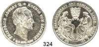 Deutsche Münzen und Medaillen,Sachsen Friedrich August II. 1836 - 1854 Ausbeute-Sterbetaler 1854.  Kahnt 453.  AKS 118.  Jg.95.  Thun 330.  Dav. 882.