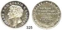 Deutsche Münzen und Medaillen,Sachsen Johann 1854 - 1873 Taler 1855 F.  Münzbesuch.  Kahnt 460.  AKS 156.  Jg.99.  Thun 334.  Dav. 885.