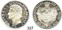 Deutsche Münzen und Medaillen,Sachsen Johann 1854 - 1873 Vereinstaler 1857 F.  Kahnt 463.  AKS 132.  Jg. 107.  Thun 339.  Dav. 890.