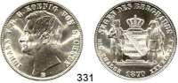 Deutsche Münzen und Medaillen,Sachsen Johann 1854 - 1873 Ausbeutevereinstaler 1870 B.  Kahnt 472.  AKS 135.  Jg. 128.  Thun 350.  Dav. 897.