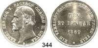 Deutsche Münzen und Medaillen,Sachsen - Coburg und - Gotha Ernst II. 1844 - 1893 Vereinstaler 1869 B.  Regierungsjubiläum.  Kahnt 497.  AKS 117.  Jg. 298.  Thun 370.  Dav.827.