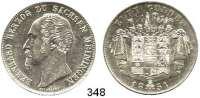 Deutsche Münzen und Medaillen,Sachsen - Meiningen Bernhard II. Erich Freund 1803 - 1866 Doppelgulden 1854.  Kahnt 506.  AKS 183.  Jg. 445.  Thun 378.  Dav. 837.