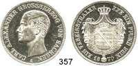 Deutsche Münzen und Medaillen,Sachsen - Weimar - Eisenach Karl Alexander 1853 - 1901 Vereinstaler 1870 A.  Kahnt 516.  AKS 33.  Jg. 535.  Thun 386.  Dav. 847.
