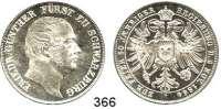 Deutsche Münzen und Medaillen,Schwarzburg - Rudolstadt Friedrich Günther 1807 - 1867 Vereinstaler 1864.  Kahnt 536.  AKS 31.  Jg. 55.  Thun 396.  Dav. 917.