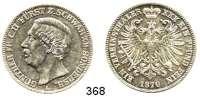 Deutsche Münzen und Medaillen,Schwarzburg - Sondershausen Günther Friedrich Karl II. 1835 - 1880 Vereinstaler 1870 A.  Kahnt 541.  AKS 38.  Jg. 75.  Thun 400.  Dav. 921.
