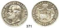 Deutsche Münzen und Medaillen,Waldeck Georg Viktor 1845 - 1893 Vereinstaler 1867 A.  Kahnt 551.  AKS 45.  Jg. 45.  Thun 410.  Dav. 929.