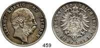 R E I C H S M Ü N Z E N,Sachsen, Königreich Albert 1873 - 1902 5 Mark 1876.  Jaeger 122.