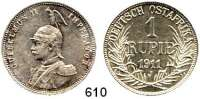 Besetzte Gebiete  -  Kolonien  -  Danzig,Deutsch - Ostafrika  1 Rupie 1911 J.