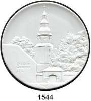 MEDAILLEN AUS PORZELLAN,Andere Hersteller Sonstige Hersteller Weiße Medaille 2013 (110 mm).  40 Jahre Verein der Münzfreunde Dresden-Weixdorf und Umgebung.
