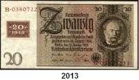 P A P I E R G E L D,D D R  Kuponserie 1948.  1 DM bis 100 DM (5 und 20 DM einmal).  SBZ-1 b, 2 b, 4 b, 5 c, 6 c, 8 c, 9 c.  SATZ 7 Scheine.