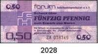 P A P I E R G E L D,D D R  FORUM-Warenschecks$0 1979.  0,50 Mark.  Austauschnote.  Ros. DDR-29 b.  LOT 15 Scheine.