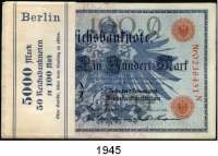 P A P I E R G E L D,K A I S E R R E I C H  100 Mark 7.2.1908.  LOT 50 Scheine (Bündel mit Banderole; fortlaufende Nummern).  Ros. DEU-31 b.