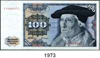 P A P I E R G E L D,BUNDESREPUBLIK DEUTSCHLAND  100 Deutsche Mark 2.1.1960.  P...L.  Ros. BRD-10 b.