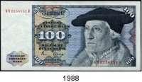 P A P I E R G E L D,BUNDESREPUBLIK DEUTSCHLAND  100 Deutsche Mark 2.1.1980.  NM...Q und NN...D.  Ros. BRD-33 a.  LOT 2 Scheine.