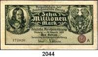 P A P I E R G E L D,D A N Z I G  10 Millionen Mark 31.8.1923.  Mit rotem