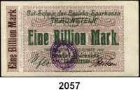 P A P I E R G E L D   -   N O T G E L D,Bayern Traunstein Bezirks-Sparkasse.  1 Billion Mark 9.11.1923.  Keller 5189.i.